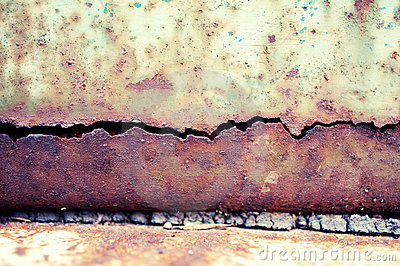 Grunge texture of metal plate