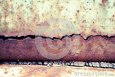 Grunge texture of metal plate