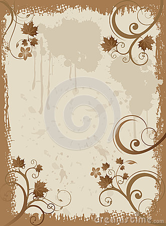 Grunge texture painted frame mask overlay