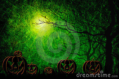 Grunge Textured Halloween Night Background Royalty Free Stock Photo - Image: 21256925