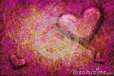 Grunge textured for Valentines day
