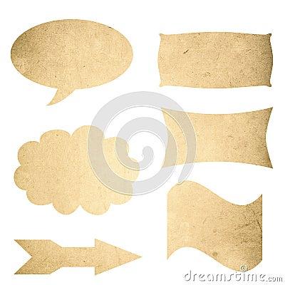 Grunge textures blank sign