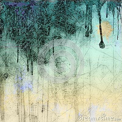 Grunge tło błękitny kapiący