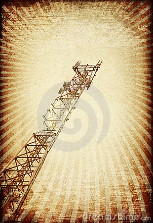 Grunge transmitter tower.
