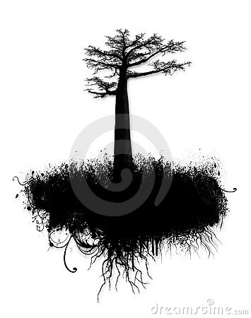Grunge Tree Collage