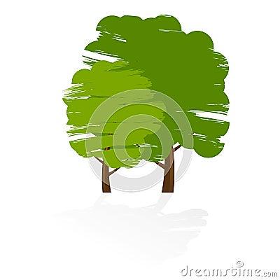 Free Grunge Tree Icon Stock Photos - 5168253