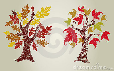 Grunge trees from leafs.
