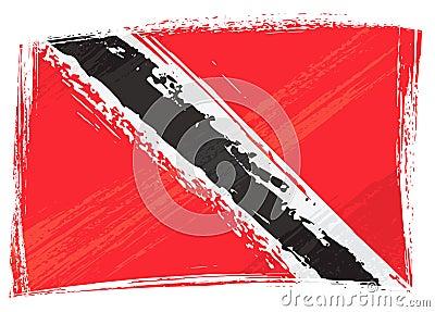 Grunge Trinidad and Tobago flag