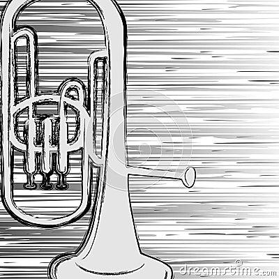 Grunge trumpet.