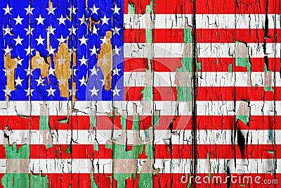 Grunge U S A Flag