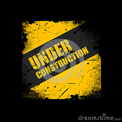 Grunge Under construction background