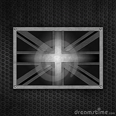 Grunge union jack badge