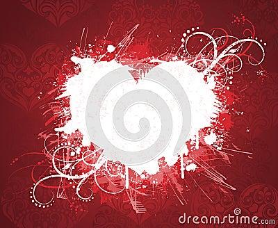 Grunge valentine s day banner.