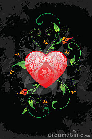 Grunge Valentine s Day card