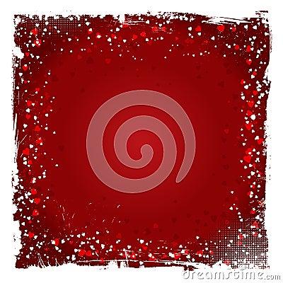 Grunge Valentines Day background