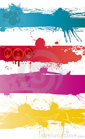 Free Grunge Vector Backgrounds Set Stock Photos - 13138693