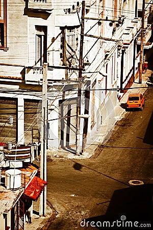 Grunge view of Old Havana