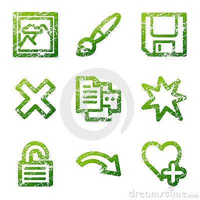 Grunge viewer 2 contour icons