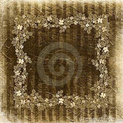 Free Grunge Vintage Background With Floral Stock Images - 10818194