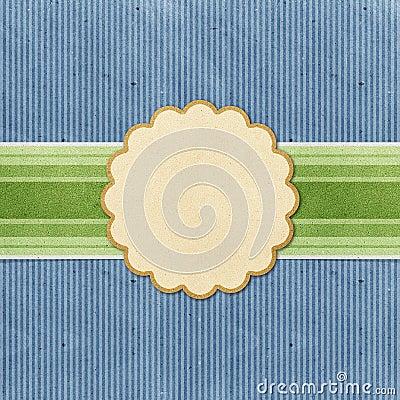 Grunge vintage banner recycled paper craft