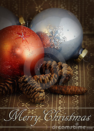 Grunge vintage Christmas ornament
