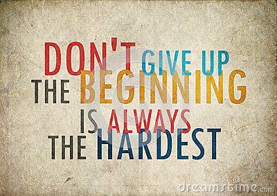 Grunge vintage dont give up quote Stock Photo