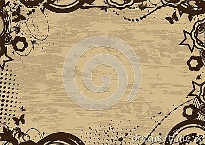 Grunge vintage frame
