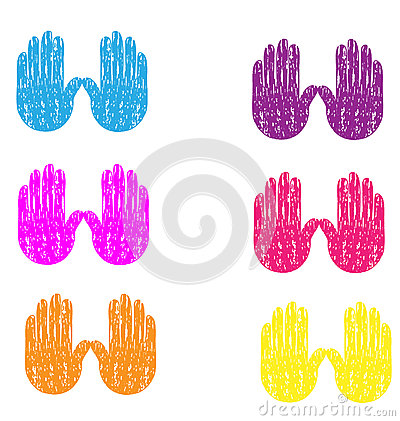 Grunge vintage hands