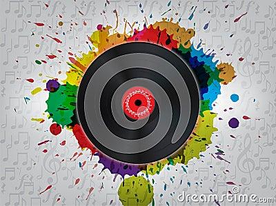 Grunge Vinyl Music Background