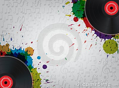 Grunge Vinyl Music Background