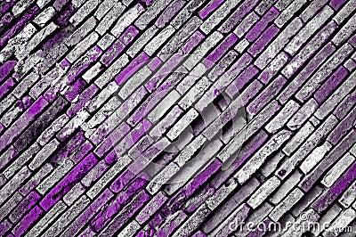 Grunge violet bricks