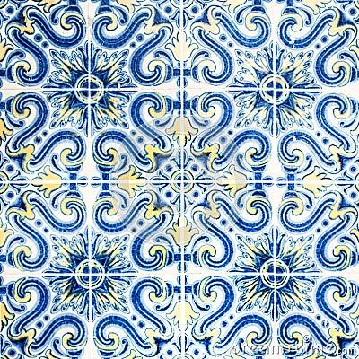Free Grunge Wall Art Texture / Traditional Ornate Portuguese Decorati Royalty Free Stock Photo - 72129745