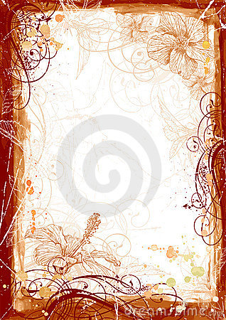 Free Grunge Watercolor Frame Stock Photography - 5477432