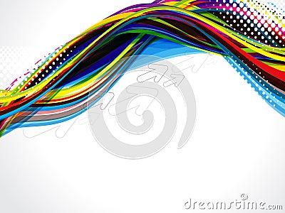 Grunge wave background