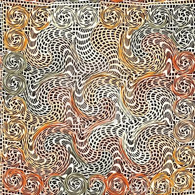 Grunge wavy quilted seamless pattern