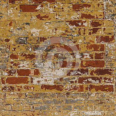 Free Grunge Weathered Brick Wall Red With Gray White An Stock Photos - 39610503