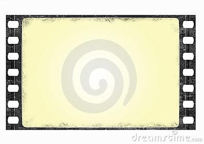 Grunge wide screen film frame