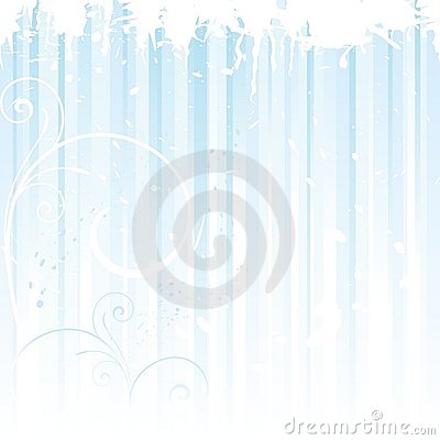 Grunge winter background in light blue
