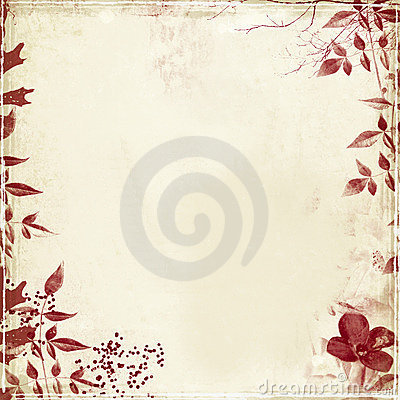 Free Grunge With Foliage And Flower Royalty Free Stock Photos - 3882078