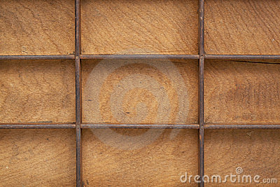 Grunge wood texture with grid