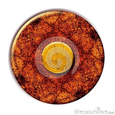 Grunge Yellow Button