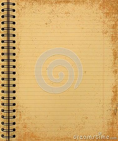 Free Grunge Yellow Notebook Stock Image - 1575201