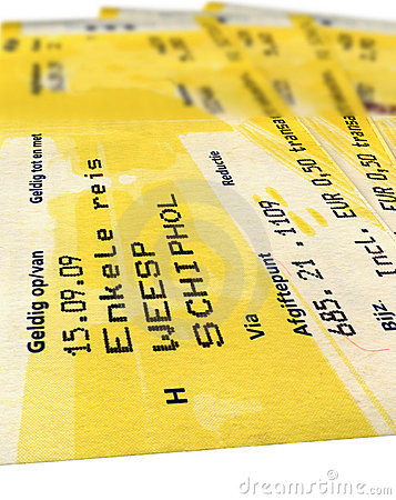 grunge yellow train tickets isolated, paper,travel