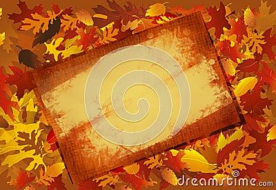 Grunged Fall Frame