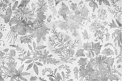 Grungy antique damask floral background