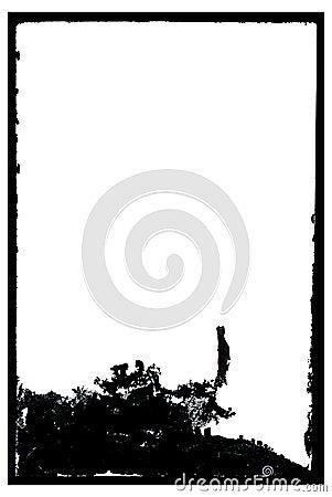 Grungy Antique Negative Photo Frame