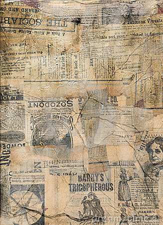 Free Grungy Antique Newspaper Paper Collage Royalty Free Stock Photos - 20045338
