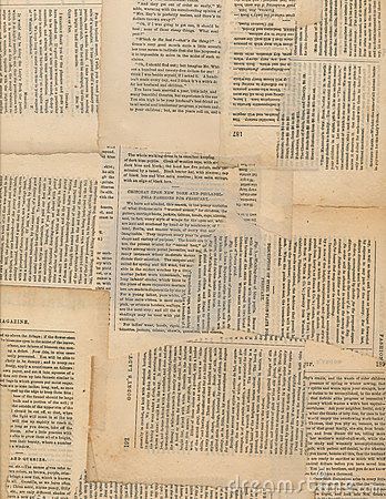 Free Grungy Antique Newspaper Paper Collage Stock Photography - 20045362