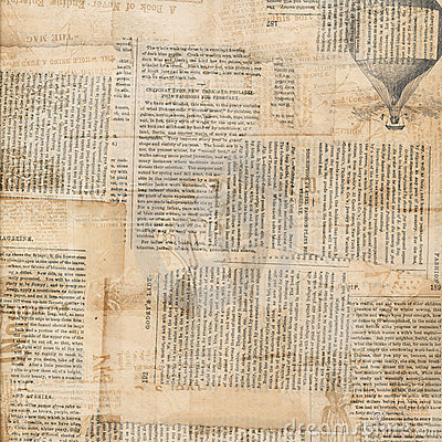 Free Grungy Antique Newspaper Paper Collage Stock Photo - 20045390