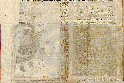 Grungy antique tribal parchment background